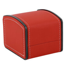 PU Leather Watch Box Display Case Gift Box For Watch Jewelry Storage Holder Red