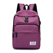 COZIME Fashion USB Charging Travel Backpack With Anti-theft Buckle Laptop Purple