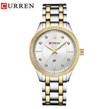 CURREN Luxury Fashion Women's Quartz Watch Stainless Steel Wristwatches 9010