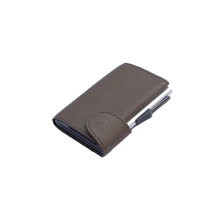 C-Secure Italian Leather RFID Wallet Castagno