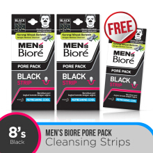 MEN'S BIORE Pore Pack Black 8's - Buy 2 Get 1 Free