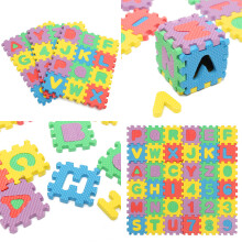 New 36PCS Alphabet Numerals Baby Kids Soft Foam Play Mat Puzzle Educational Toy