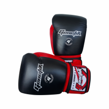 GENETIX Boxing Gloves COMBAT Leather GBG4L RedBlack