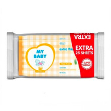 MY BABY Baby Wipes Fresh Fruity - 50 + 25s