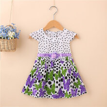 Kids Girls Skirt Tank Dress Sleeveless Floral Princess Dress Tutu Sundress 100CM