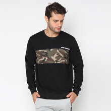 RAVE HABBIT- Ramsey Blocked Color Army Black Sweatshirt