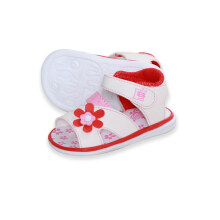 LustyBunny Baby Shoes Big Flower - White