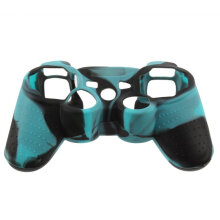 [OUTAD] Durable Silicone Skin Thumb Stick Protective Case Cover for PS2 Controller Blue Black
