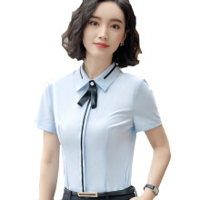 BestieLady W0005 Plus Striped Shirts with Bowknot Brooch