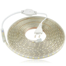 shengmeiid 220V 5050 LED Waterproof Anti-electric Light Strip 1M White