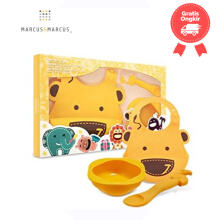 Marcus & Marcus Baby Feeding Set - Yellow Giraffe