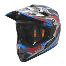 Helm Motocross Cargloss MXC Supertrack Pink Blue - Deep Black