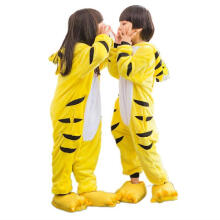 Anamode Size 100~140 Kids Cartoon Clothes Parent-Child Homewear Siamese Pajamas Suit -Tiger