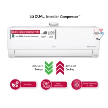 LG AC Dual Cool Deluxe Inverter 1.5PK - P13RIV3 [Indoor + Outdoor Unit Only]
