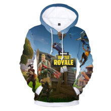 Fashion Sweatshirts Personalized 3D Digital Print Loose Hooded Pullover Shirt S