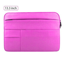 COZIME Computer Bag Multifunctional Sleeve Waterproof Case Holder 13.3 inches Rose Red