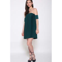 LOVE BONITO Covet Dareen Pleated Dress - Green - XL
