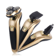 Jantens 3 in 1 Men Electric Shaver Washable Electric Beard Trimmer gold