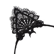 Hairband Women Lace Lovely Cat Ear Head Chain Jewelry Hair Band Headband Black LZ206