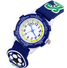 Keymao Big Football Waterproof 3D Cute Cartoon Silicone Wristwatches Gift for Little Girls Boy Kids Children Blue