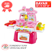 Tomindo Cook Happy Kitchen mainan dapur dapuran - pink