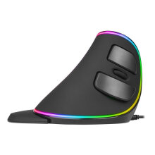 [COZIME] Delux M618 Plus RGB Vertical Mouse IntelliSense Breathing Light Wired Mouse black