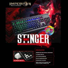 Keyboard Gaming Imperion Stinger KG-MM2 Mechanical membrane, RGB