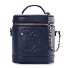 CHANEL Vanity Case Navy - AS0323B00120N0703