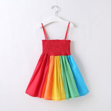 Rainbow Toddler Infant Kids Baby Girl Sleeveless Daily Cute Tutu Dress