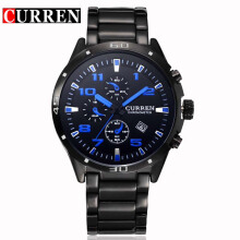 CURREN 8021 Business Men Watch Top Brand luxury Full Steel Quartz Wristwatches