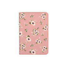Farfi Fresh Flower Animal Passport Credit Card Holder Wallet Tickets Organizer Bag Pink Flower