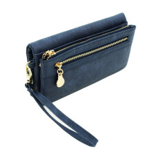 Jantens High Capacity Fashion Women Wallets Long Dull Polish PU Leather Wallet