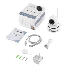 OCDAY Home Security Wireless WiFi IP Camera Video Monitor 960P HD Night Vision White & Black