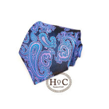 Houseofcuff Dasi Neck Tie Motif Wedding Best Man BLUE LIST PURPLE BATIK TIE Blue