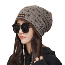 SiYing Fashion Lady Printed Five-pointed Star Windproof Cap
