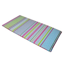 THE LUXE Travel Mattress Foldable 90x190 - Stripe Pink Green