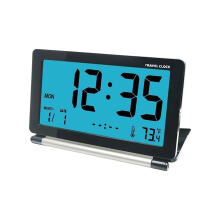 JDWonderfulHouse Loskii DC-12 Travel Alarm Clock LCD Mini Digital Desk Folding Electronic Alarm With Backlight