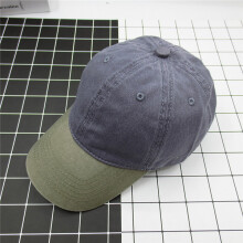 Zanzea 0051Unisex Washed Denim Baseball Hats Patchwork Two Tone Low Profile Six Panel Adjustable Vintage Hat 2