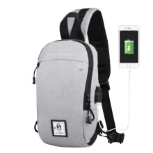 Fireflies B0382 New multi-functional men's shoulder bag / chest bag/USB charging