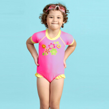 LEE VIERRA Bold Girl Flower Leotard Baju Renang Anak Leotard
