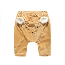 Farfi Cartoon Bear Print Plush Baby Kid Boys Girls Autumn Harem Pants Long Trousers