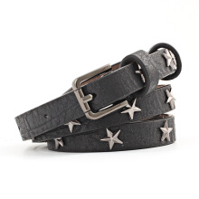NOUYA Casual wild simple five-pointed star thin belt