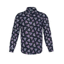 Authentic Kenzo Men Bermudas Triangle Slim Fit Long Sleeve Button Shirt