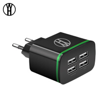 WH Phone Charger USB Charger 4 Ports Portable Fast USB Charging Universal Travel Adapter For iPhone Samsung XIAOMI Huawei