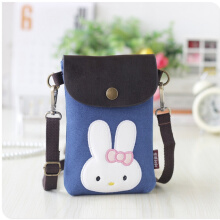 YOOHUI Canvas & PU leather cartoon printing children school bag kids messenger travel phone pouch bag