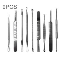 [COZIME] 9 in 1 Stainless Steel Acne Needle Blackhead Tweezer Blemish Pimple Extractor Sliver1
