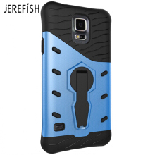 JEREFISH Samsung Galaxy S5 Case Multi-Layer Hybrid Protective Case with 360 Degree Rotating Stand Cover