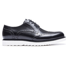 AOKANG 2018 New Arrival men shoes leather genuine shoes man high quality brogue shoes comfortable dress shoes black