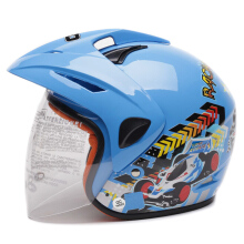 WTO Helm Anak Kids Pet Racing Wheel Biru M