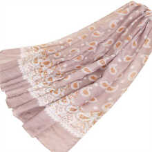 LAVEN retro national new Bali yarn fashion print women's headscarf